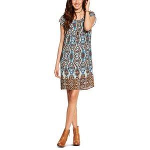nwt | Ariat Multicolor Kallie Cap Sleeve Dress